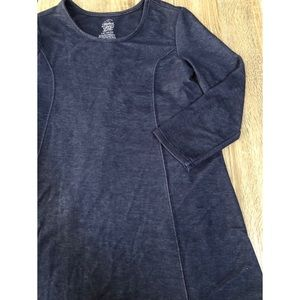 Girls Navy Longsleeve Dress